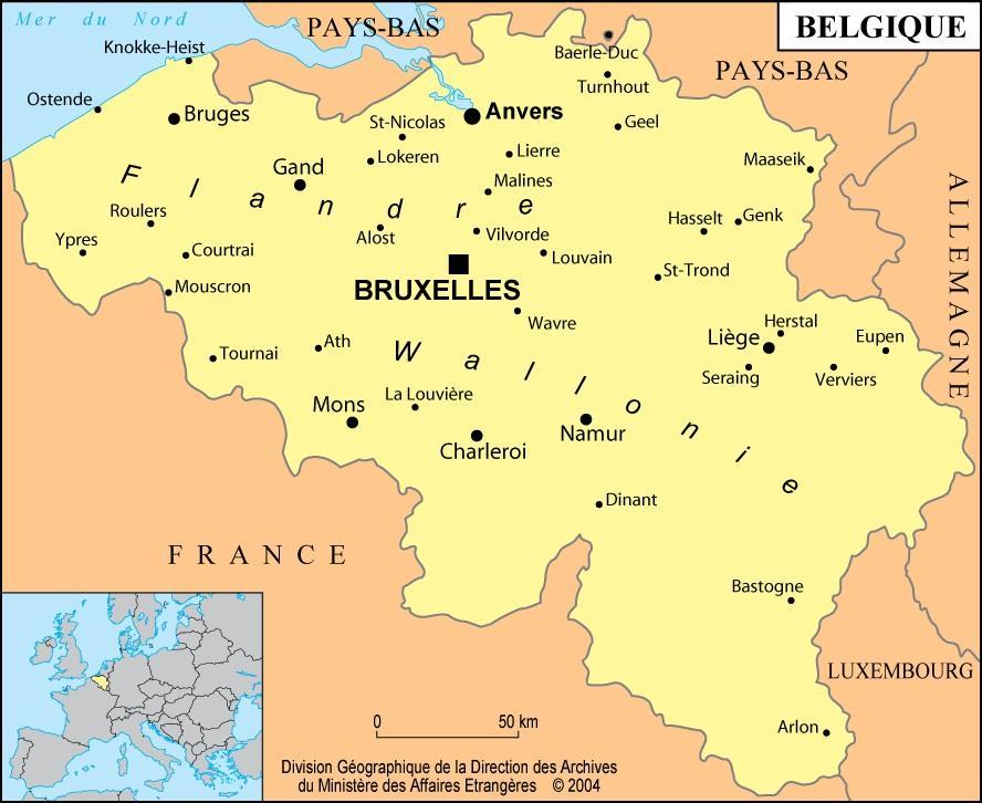 181c635 Belgija Karta Europe Karta Belgije I Europe Zapadna Europa